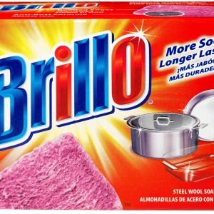 """Губки моющие """"Brillo"""" пропитанные мылом 4 шт. (уп.)"""