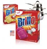 """Губки моющие """"Brillo"""" пропитанные мылом 10 шт. (уп.)"""
