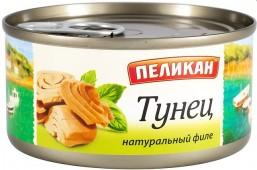 Тунец натуральный (филе) в масле